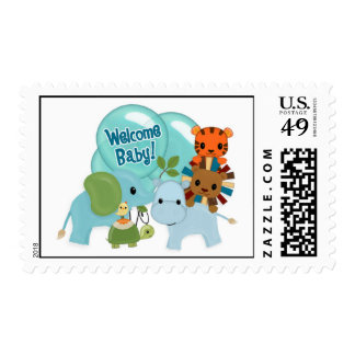 "Animal Parade ""Welcome Baby!"" hippo lion tiger APK Postage"