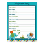 Animal Parade Wishes for Baby Advice Cards Post Cards