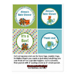 Animal Parade ZOO Baby Shower Cupcake Topper APK Postcard