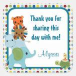 Animal Parade ZOO Baby Shower square sticker APK