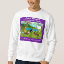 Animal Paradise, purple sweat shirt