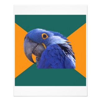 "Animal paranoico Meme del consejo del pájaro del l Folleto 4.5"" X 5.6"""