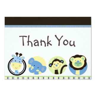 Animal Park Baby Shower Thank You Cards