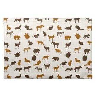 Animal pattern 1 cloth placemat