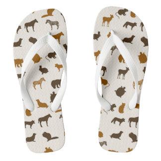 Animal pattern 1 flip flops