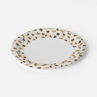 Animal pattern 1 7 inch paper plate