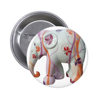 Animal Pattern Africa Peace Flowers Vines Pinback Button