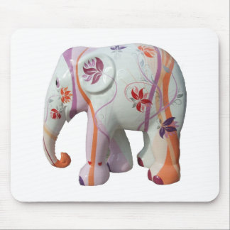 Animal Pattern Africa Peace Flowers Vines Mouse Pad
