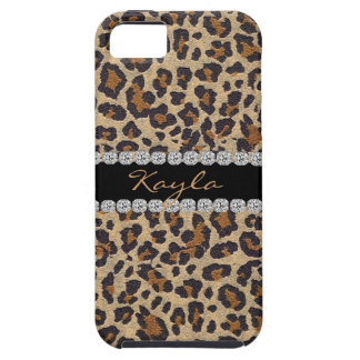 Animal Pattern Custom Name BLING  I phone 5 CASE iPhone 5 Covers