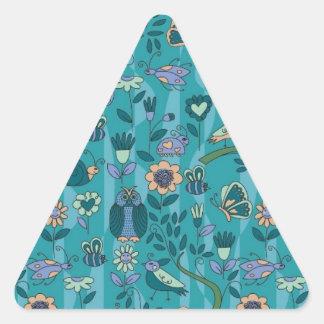 Animal Pattern Design Triangle Sticker