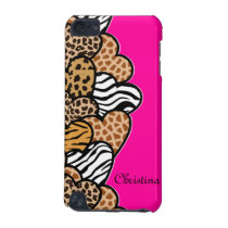 Animal pattern hearts changeable background iPod touch 5G cover