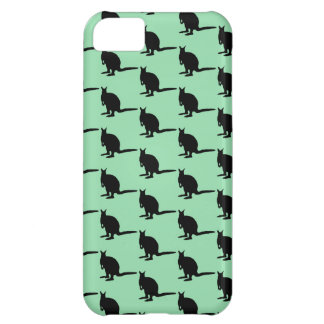 Animal Pattern. Wallaby Design in Green and Black. iPhone 5C Case