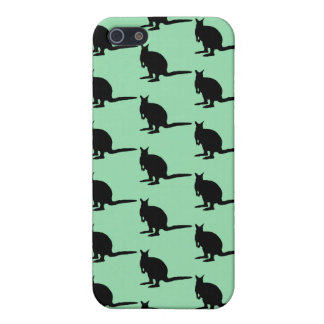 Animal Pattern. Wallaby Design in Green and Black. iPhone 5 Cases