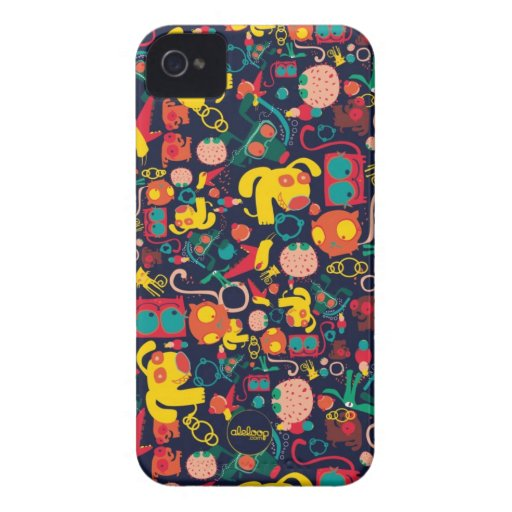 Animal Patterns Aleloop iPhone Case iPhone 4 Case-Mate Cases