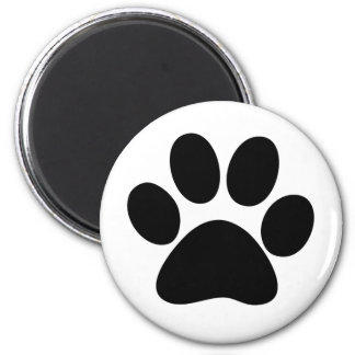 Animal Paw 2 Inch Round Magnet