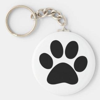 Animal Paw Basic Round Button Keychain