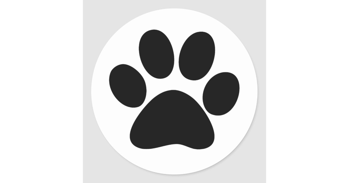 Animal Paw Classic Round Sticker Zazzle Com