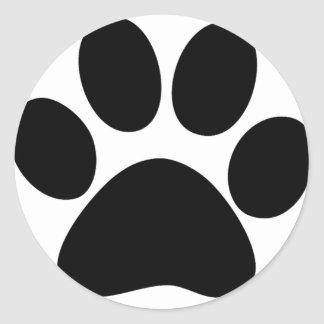 Animal Paw Classic Round Sticker