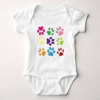 animal paw  design baby bodysuit