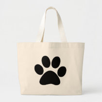 Animal Paw Large Tote Bag