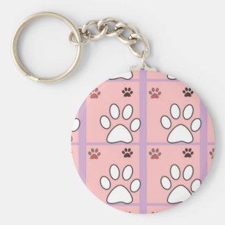 Animal paw pattern keychain
