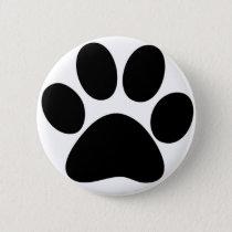 Animal Paw Pinback Button
