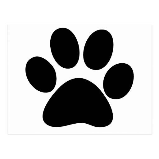 Animal Paw Postcard