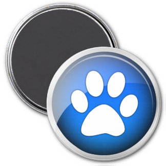 Animal Paw Print Blue Icon Magnet