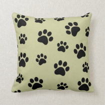 Animal paw print  customizable pillow