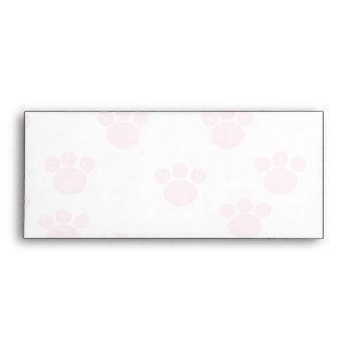 Animal Paw Print. Light Pink and White Pattern. Envelope