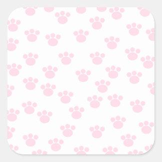 Animal Paw Print. Light Pink and White Pattern. Sticker