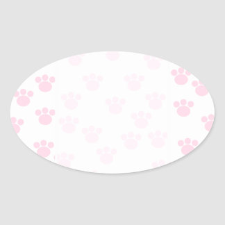 Animal Paw Print. Light Pink and White Pattern. Stickers