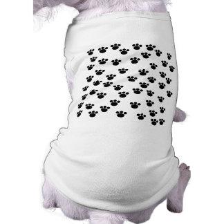 Animal Paw Print Pattern. Black and White. Pet Tee