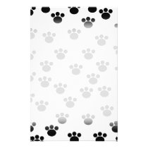 Animal Paw Print Pattern. Black and White. Flyer