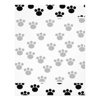 Animal Paw Print Pattern. Black and White. Flyer