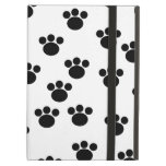 Animal Paw Print Pattern. Black and White. iPad Cover