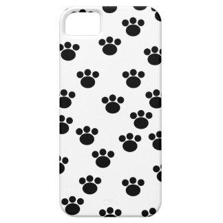 Animal Paw Print Pattern. Black and White. iPhone SE/5/5s Case