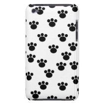 Animal Paw Print Pattern. Black and White. iPod Touch Case-Mate Case