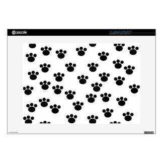 Animal Paw Print Pattern. Black and White. Skins For Laptops