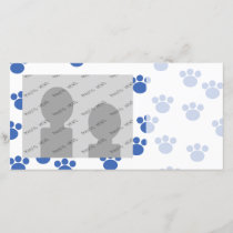 Animal Paw Print Pattern. Blue and White.