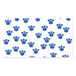 Animal Paw Print Pattern. Blue and White. Business Cards