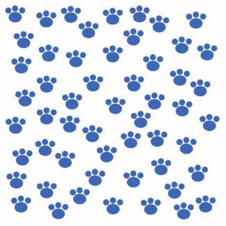 Animal Paw Print Pattern. Blue and White. Photo Cutout