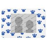 Animal Paw Print Pattern. Blue and White. Rectangular Magnets