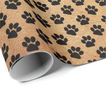 Animal Paw Print Pattern Wrapping Paper