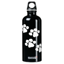 Animal Paw Prints Aluminum Water Bottle
