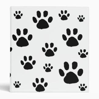 Animal Paw Prints 3 Ring Binder
