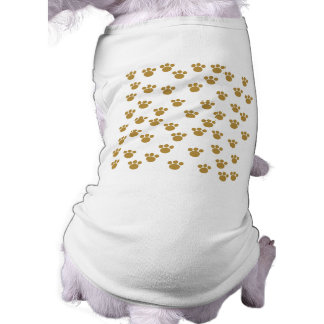 Animal Paw Prints. Brown and White Pattern. Dog Clothing