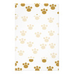 Animal Paw Prints. Brown and White Pattern. Custom Flyer