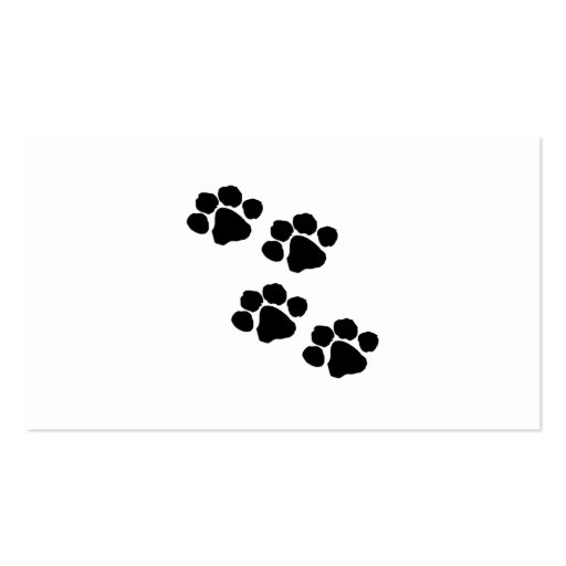 Animal Paw Prints Business Card