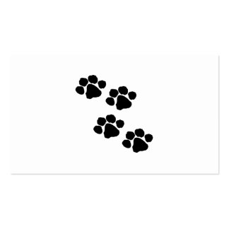 Animal Paw Prints Business Cards